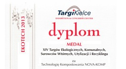 Medal of Ekotech Fairs 2013